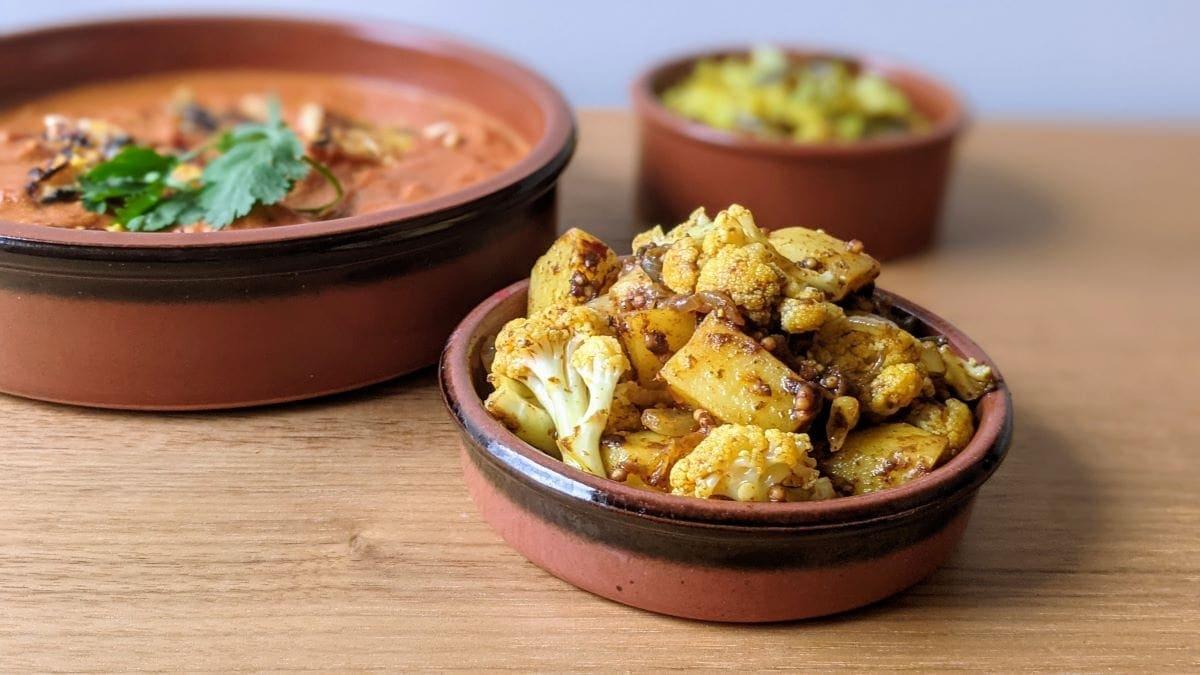Aloo gobi et poulet indien