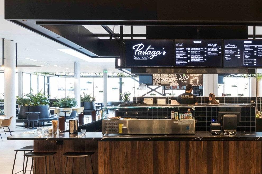 Le kiosque Pastaga Boutique au coeur de l'espace La Cuisine Rockland